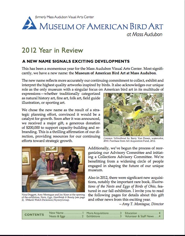 Museum Of American Bird Art at Mass Audubon FP