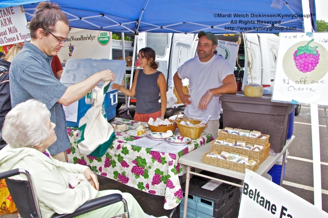 Paul Trubey, Owner of Beltane Farm. Westport Farmers Market, ©Mardi Welch Dickinson/Kymry Group™ All Rights Reserved