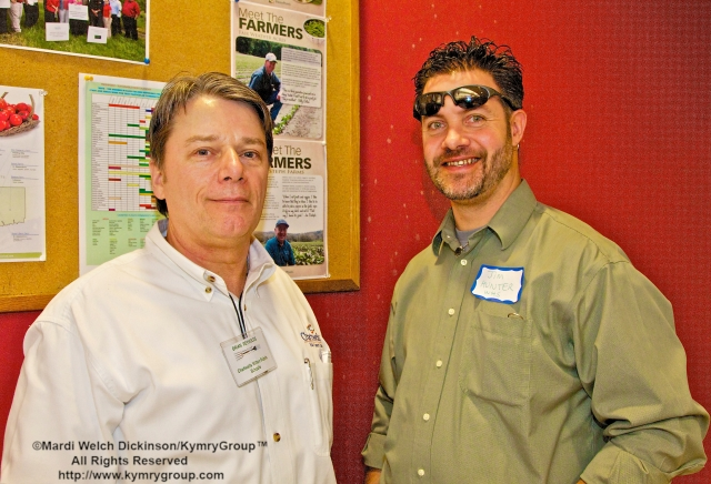 l. to r. Brain Reynolds, Chartwells, Director of Dining Services, Wilton Public Schools; James Hunter, WHS Physical Science & AP Enviromental Science; WHS Organic Garden Organizer/Garden Adviser; CTNOFA Coordinator. CTNOFA Winter Confdrence 2013, Wilton High School, Wilton, CT. ©Mardi Welch Dickinson/KymryGroup™All Rights Reserved.