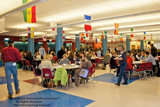 Lunch at CTNOFA Winter Confdrence 2013, Wilton High School, Wilton, CT, ©Mardi Welch Dickinson/ KymryGroup™All Rights Reserved.