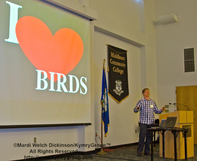 Marshall J. Iliff, eBird AKN Project Leader; COA 29th Annual Meeting, Middlesex Community College. ©Mardi Welch Dickinson/KymryGroup™. All Rights Reserved.