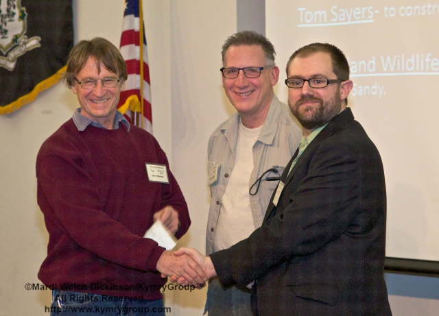 l. to r. Dave Winston, President, Cove Island Wildlife Sanctuary;  Michael Moccio, VP, Cove Island Wildlife Sanctuary. COA 29th Annual Meeting, Middlesex Community College. ©Mardi Welch Dickinson/KymryGroup™. All Rights Reserved.