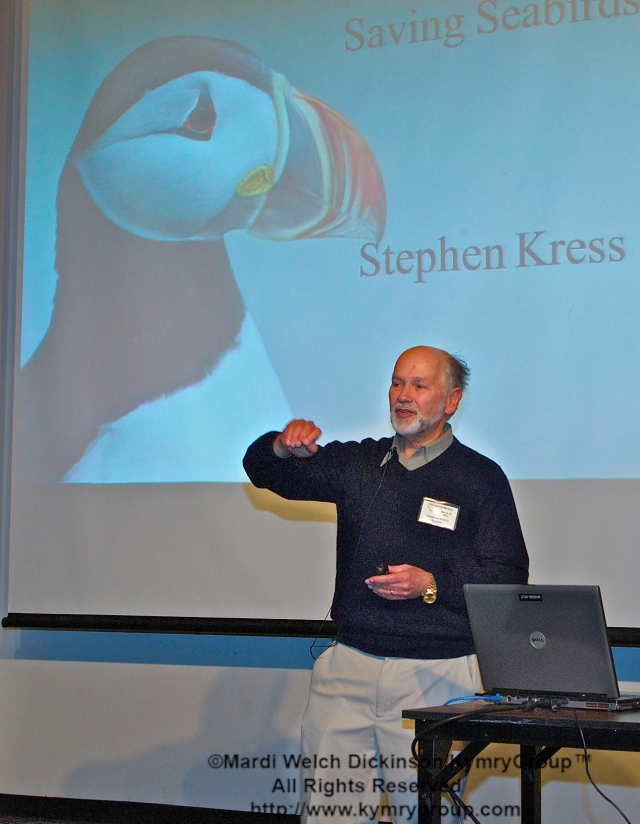Dr. Stephen Kress, COA, Featured Speaker; VP, Bird Conservation., Director, Seabird Restoration Program. COA 29th Annual Meeting, Middlesex Community College. ©Mardi Welch Dickinson/KymryGroup™. All Rights Reserved.