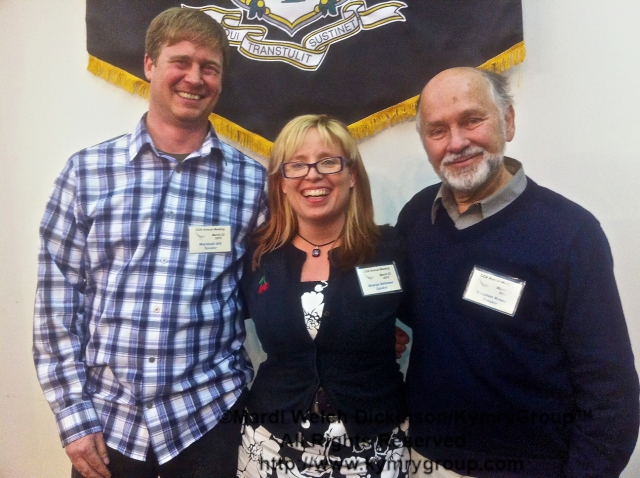 "Marshall J. Iliff, eBird AKN Project Leader; Sharon Stiteler ""Birdchick"" ; Dr. Stephen Kress. VP, Bird Conservation., Director, Seabird Restoration Program. COA 29th Annual Meeting, Middlesex Community College. ©Mardi Welch Dickinson/KymryGroup™. All Rights Reserved."
