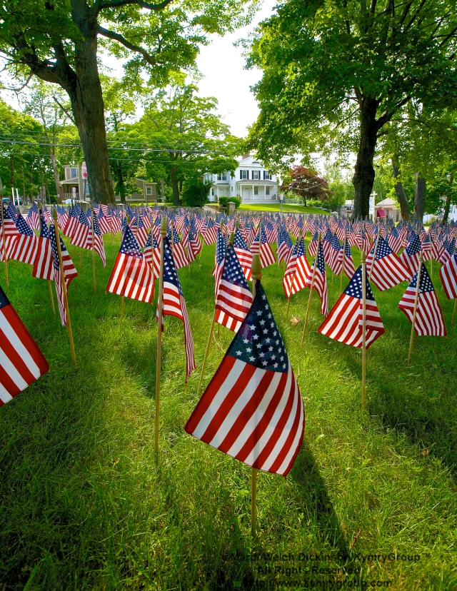 American Flags at St. Paul's Episcopal Church, East Norwalk, CT. ©Mardi Welch Dickinson/ KymryGroup™. All Rights Reserved.