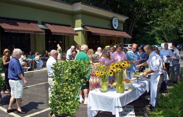 "Guests gather to celebrate Tarry Lodge Westport CT ""Snail Of Approval"" Award by Slow Food Metro North on June 29, 2003. ©Mardi Welch Dickinson/KymryGroup. All Rights Reserved."