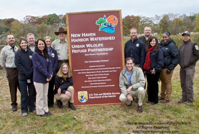 U.S. Fish and Wildlife Service Director Dan Ashe and Northeast Regional 5 Director Wendi Weber and USFWS Staff. Audubon Connecticut Urban Oases Program Celebration. National Wildlife Refuge Partnership, Barnard Nature Center, West River Memorial Park, New Haven, CT on October 30.2013. ©Mardi Welch Dickinson/KymryGroup. All Rights Reserved.