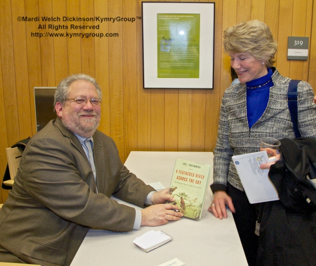 "Joel Greenberg, author booking signing and talk on ""A Feathered River across the Sky. The Passenger Pigeon's Flight To Extinction"" at Yale School of Forestry & Environmental Studies. New Haven, CT. March 12, 2014. ©Mardi Welch Dickinson/KymryGroup™ All Rights Raserved."