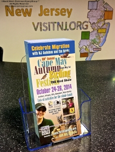 Cape May Autumn Birding Festival Brochure at Visitor's Information Center, Garden State Parkway, New Jersey. ©Mardi Welch Dickinson All Rights Reserved.