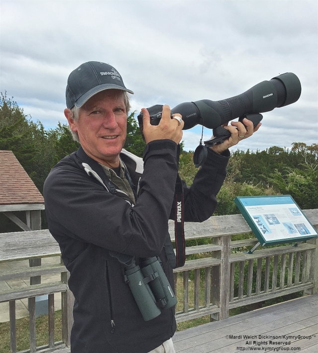 Clay Taylor, Swarovski Optik North America & CMFBF Exhibitor at Cape May Hawk Watch Platform, Cape May Point State Park, NJ. ©Mardi Welch Dickinson All Rights Reserved.