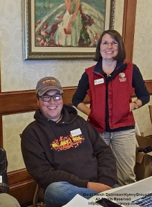 L. to R. David La Puma, CMBO Director; Deborah Shaw, Admin Director, NJ Audubon. Checking in registrants for the Cape May Fall Birding Festival at the Cape May Grand Hotel, Cape May, NJ. ©Mardi Welch Dickinson All Rights Reserved.