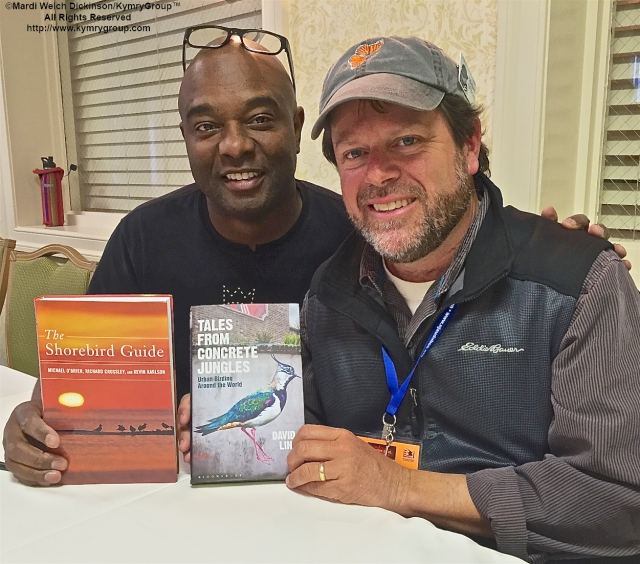 L. to R. Authors David Lindo & Michael O'Brien at the Cape May Fall Birding Festival 2015 Book signing evening, Grand Hotel, Cape May NJ. ©Mardi Welch Dickinson/KymryGroup All Rights Reserved.