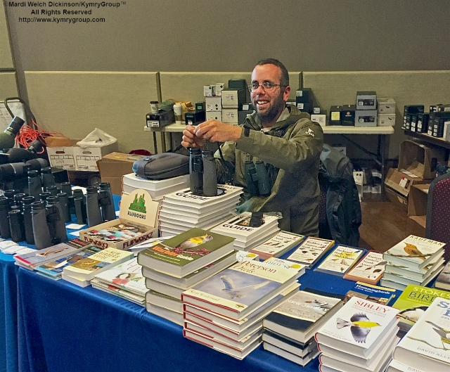 Glenn Davis at CMBO Booth, at the Cape May Fall Birding Festival 2015 Trade Show, Convention Hall, Cape May NJ. ©Mardi Dickinson/KymryGroup All Rights Reserved.